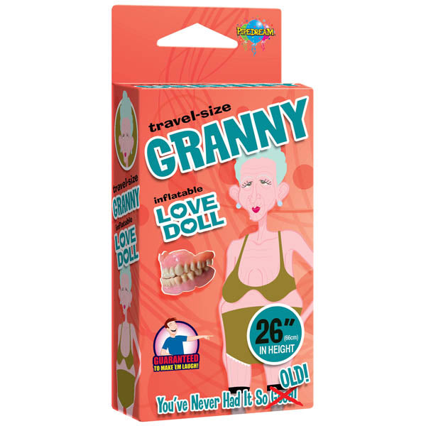 Travel-size Granny Love Doll - Miniature Inflatable Granny Love Doll - Brown Sugar Industries