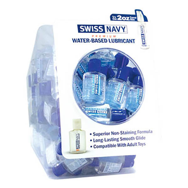 Swiss Navy Water Based Fishbowl Display - Premium Water Based Lubricant - Fishbowl Display Pack of 100 20 ml Bottles
