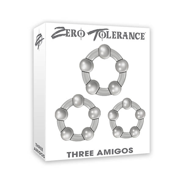 Zero Tolerance Three Amigos - Clear Cock Rings - Set of 3