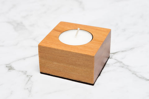 Single Tealight Holder - Rimu - Refined Handmade