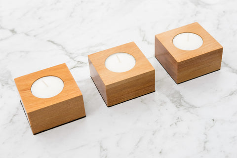 Tealight Holder Set - Rimu - Refined Handmade