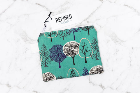 Small Pouch - Green Forest - Refined Handmade