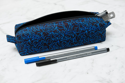 Blue Fleck Pencil Case