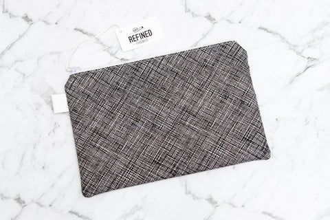 Crosshatch Pouch - Large