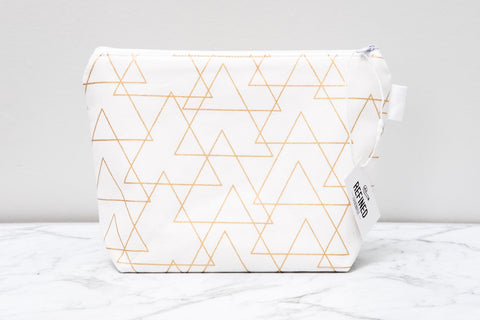 Metallic Gold Makeup Bag