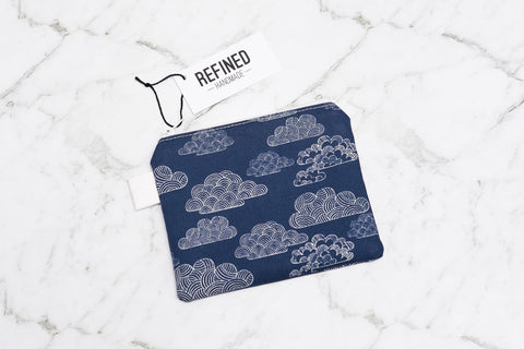 Blue Clouds Pouch - Small