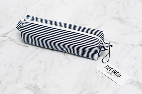 Pencil Case - Navy Stripes
