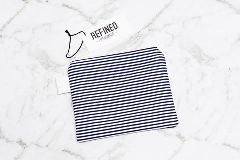 Small Pouch - Navy Stripes