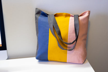 Striped Linen Tote Bag - LIMITED EDITION