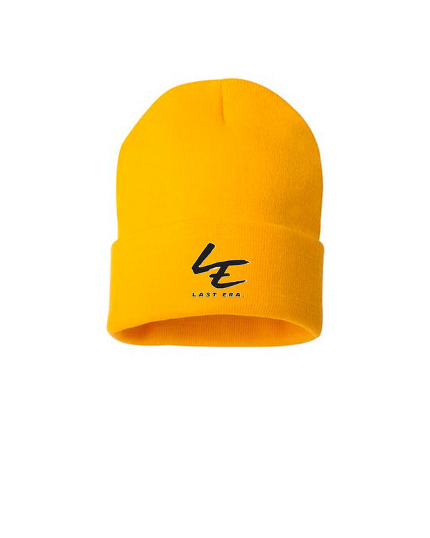 Last Era Embroidered Cuffed Beanie - Yellow