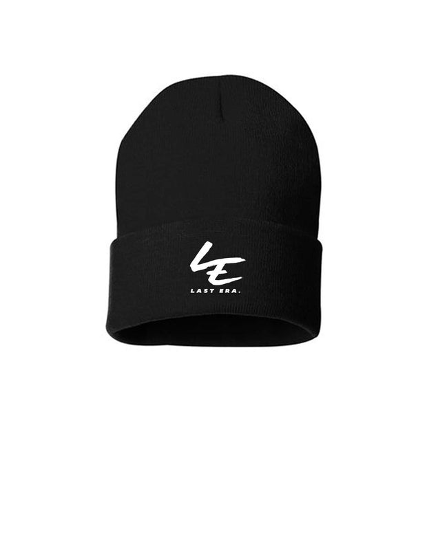 Last Era Embroidered Cuffed Beanie - Black
