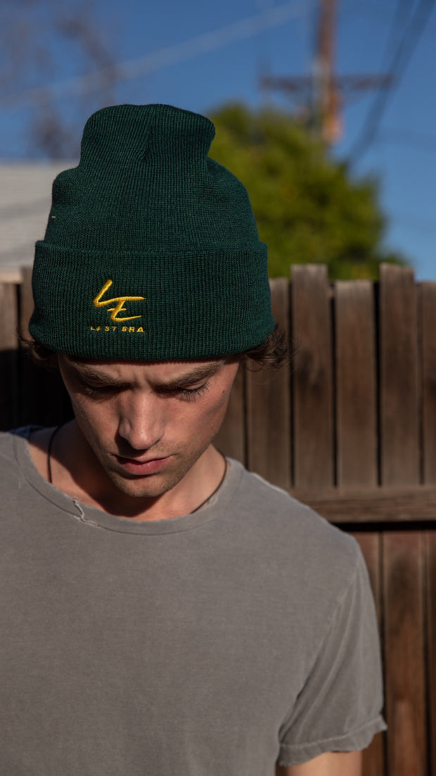 Last Era Embroidered Cuffed Beanie - Green