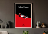 Motorsport Legends Ayrton Senna Poster