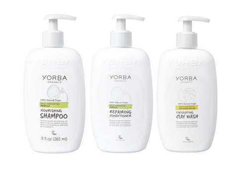 6x PACK Nourishing Shampoo & Conditioner & Clay Wash