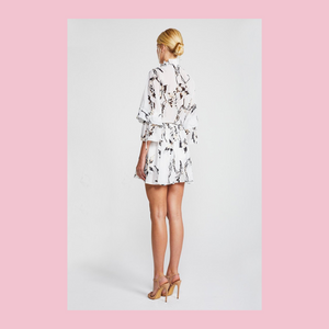 Shona Joy | Apparition Frill Collar Mini Frock | White