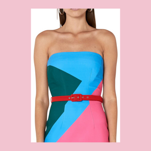 By Johnny | Blocks Strapless Frock | Multi