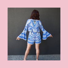 Load image into Gallery viewer, Camilla | Throwing Shade Playsuit | Blue & White