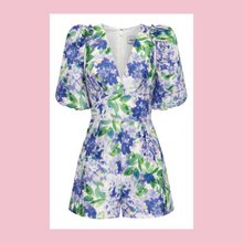 Load image into Gallery viewer, Sheike | Monet Playsuit | White, Blue & Green
