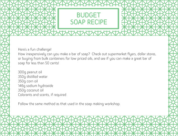 BUDGET BAR SOAP RECIPE