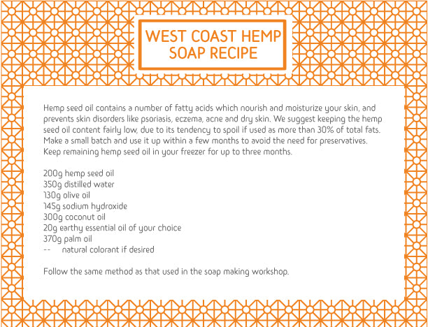 WEST COAST HEMP SOAP RECIPE
