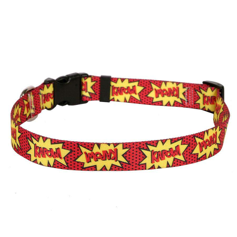 KAPOW! Comic Adjustable or Martingale  Dog Collar