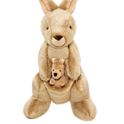 Fluff & Tuff Phoebe & Joey Kangaroo Plush Dog Toy