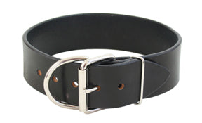 "Tuff Stuff Extra Wide Leather Dog Collar- 2"" wide"