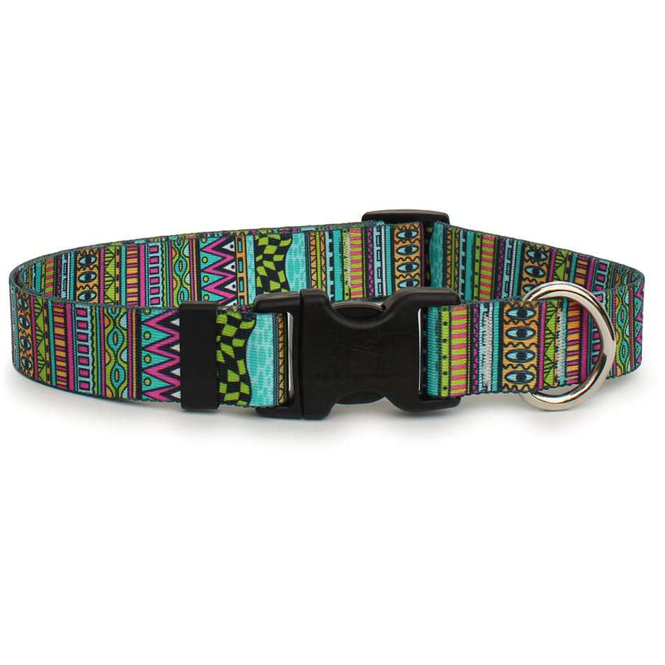 Festival Stripe Tribal Design Dog Collar