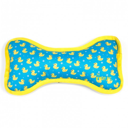Rubber Duck Bone Durable Dog Toy