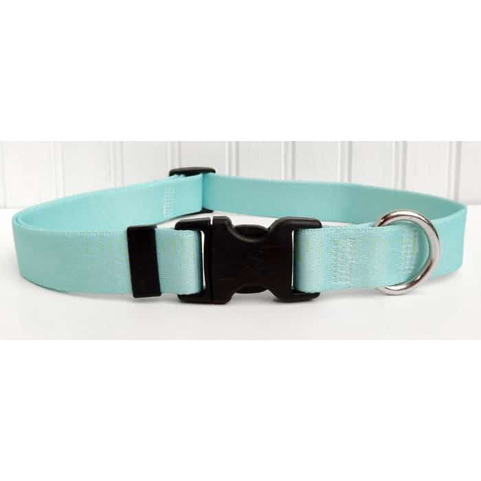 "Solid Mint ""Frost"" Dog Collar- adjustable or martingale"