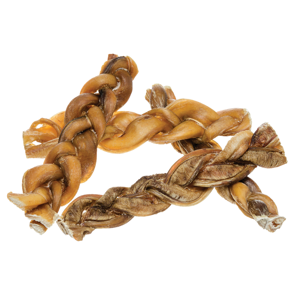 All Natural Odor-Free Braided Bully Sticks for Dogs (Single Ingredient)