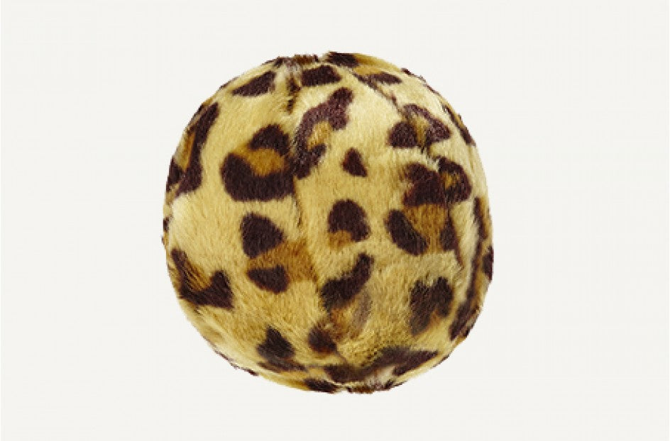 Leopard Ball Plush Durable Dog Toy