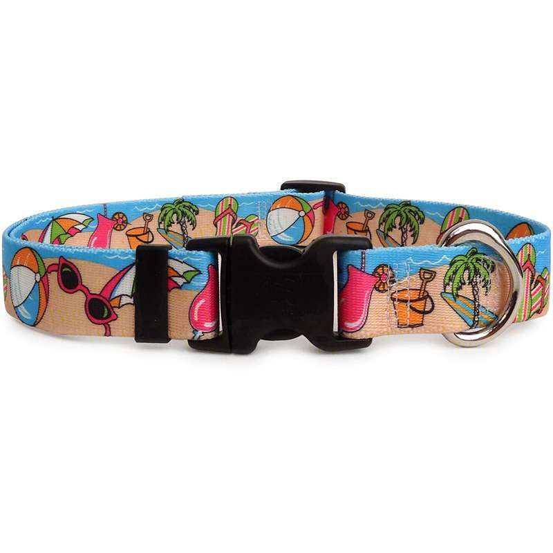 Sea Theme Beach Party Dog Collar- adjustable or martingale