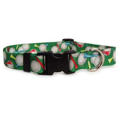 Golf Themed Dog Collar- adjustable or martingale