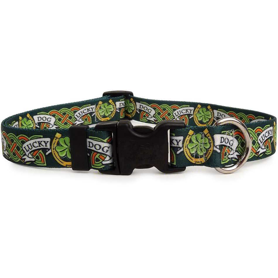Green Irish Lucky Dog Dog Collar