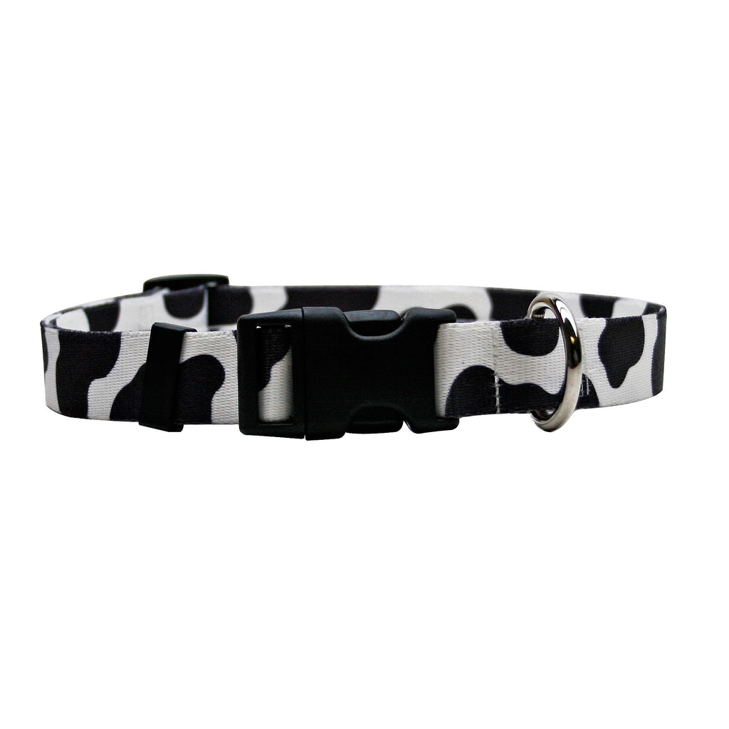 Cow Print Adjustable Dog Collar