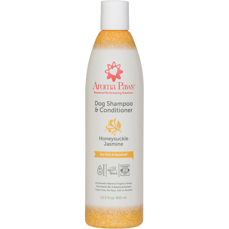 Honeysuckle Jasmine Aromatherapy Dog Shampoo for dry skin