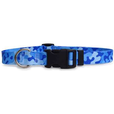 Camo Printed Dog Collar- Blue