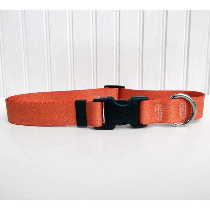 Solid Copper Colored Adjustable Dog Collar