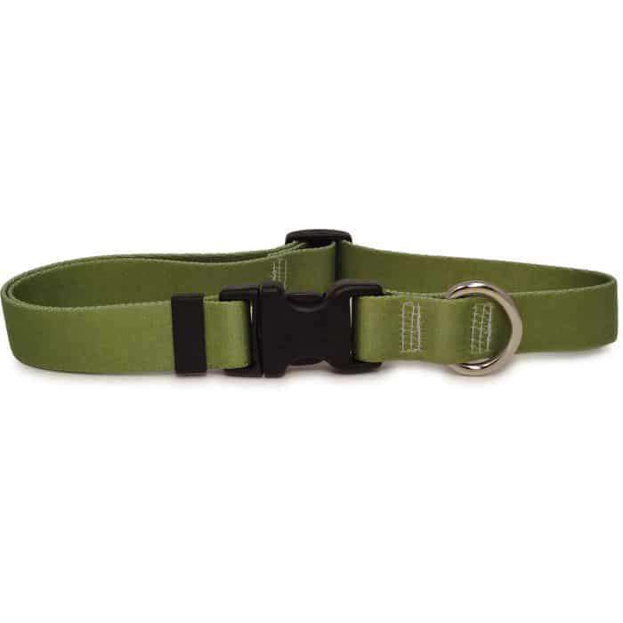 Solid Olive Green Dog Collar- adjustable or martingale