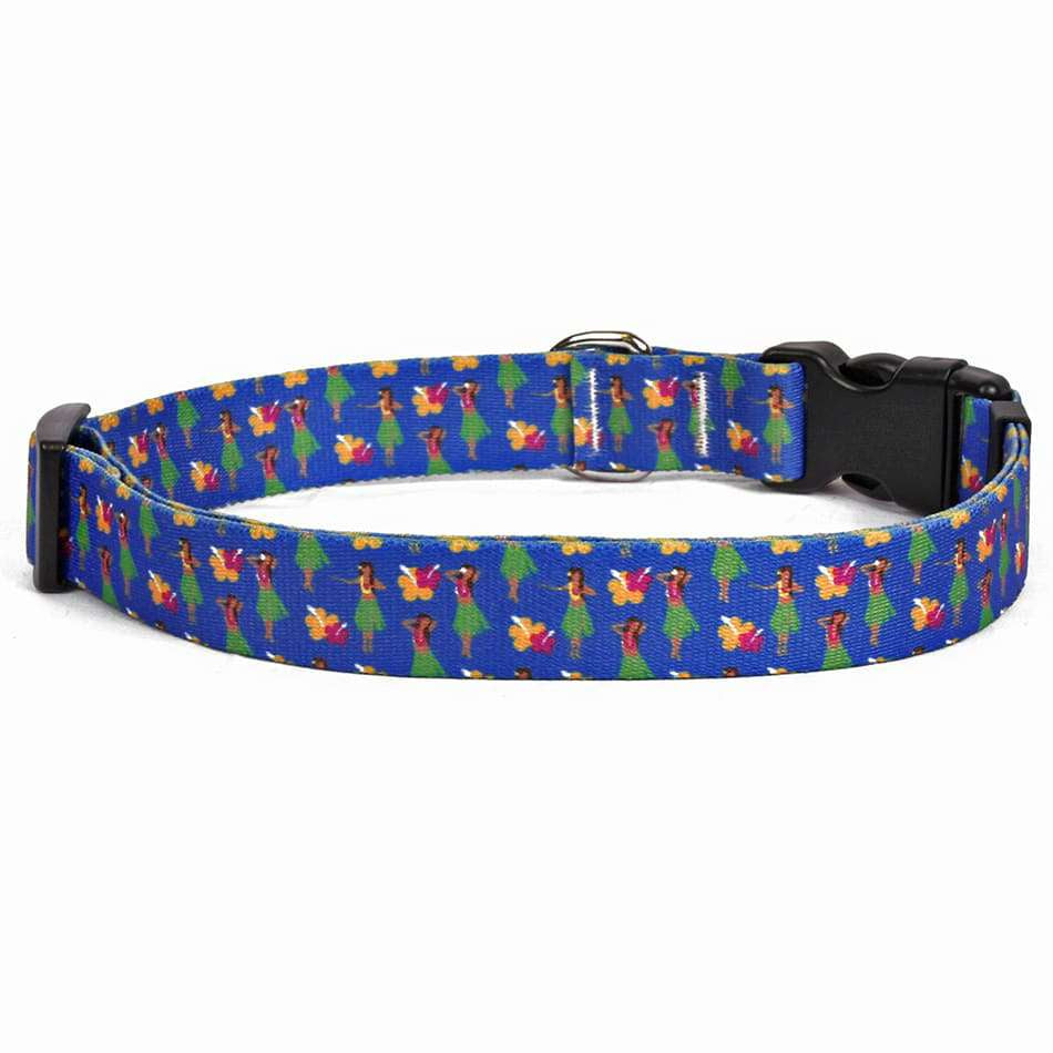 Hula Girls Hawaiian Dog Collar