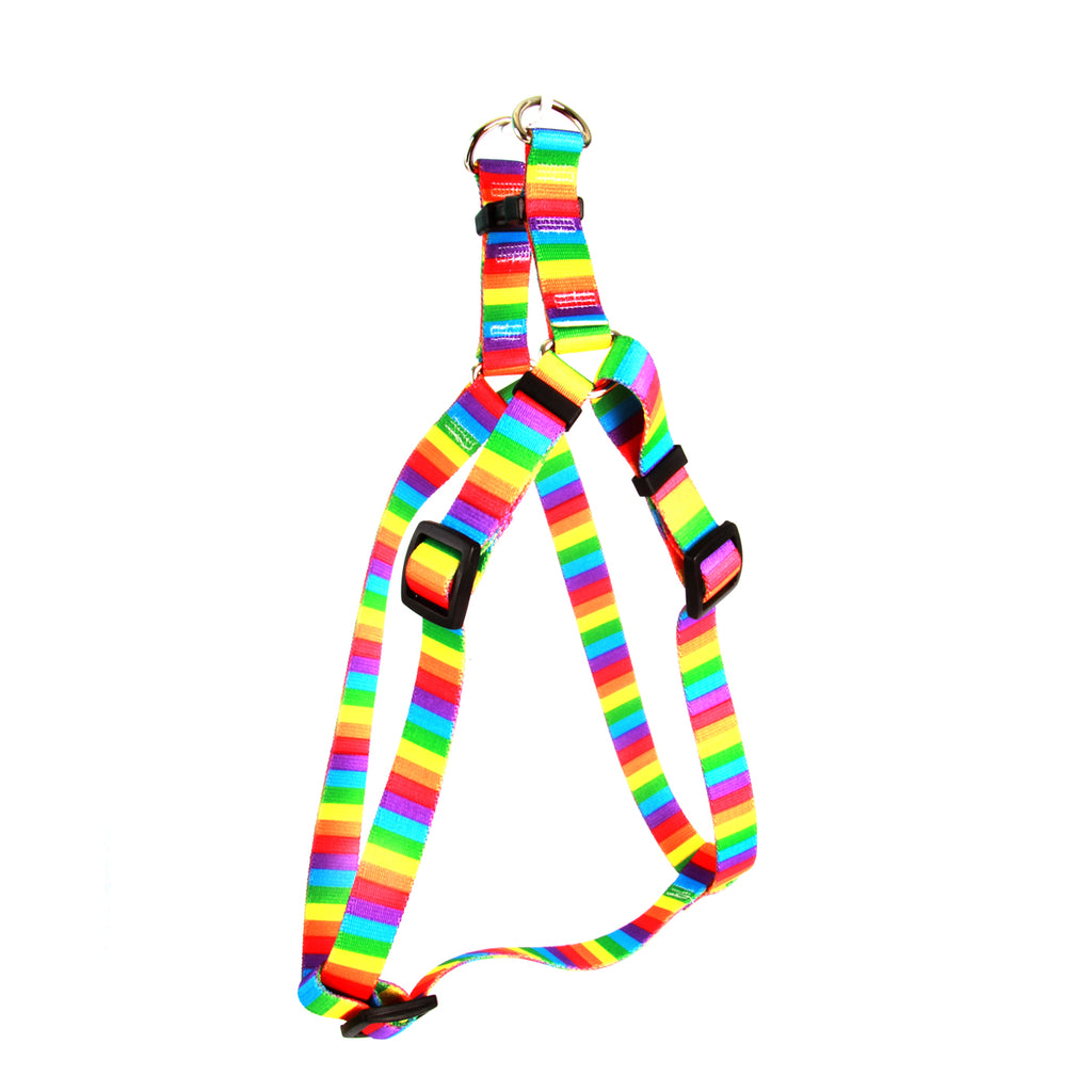 Rainbow Pride Stripe Step-In Dog Harness