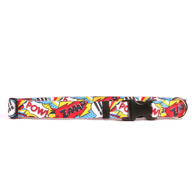 Pop Art Comic Adventure Dog Collar