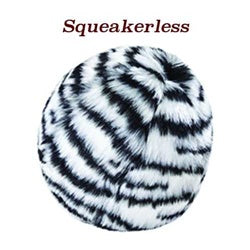 "Fluff & Tuff - Zebra Ball 4"" Plush Dog Toy"