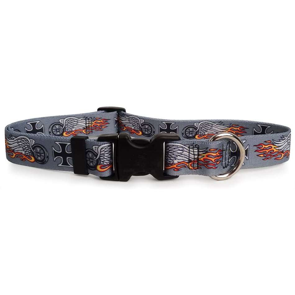 Biker Tattoo Dog Collar (adjustable or martingale)