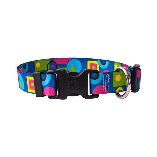 Geometric Colors Dog Collar -adjustable or martingale