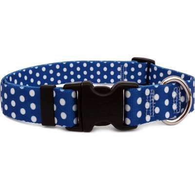 Preppy Navy Polka Dot Dog Collar