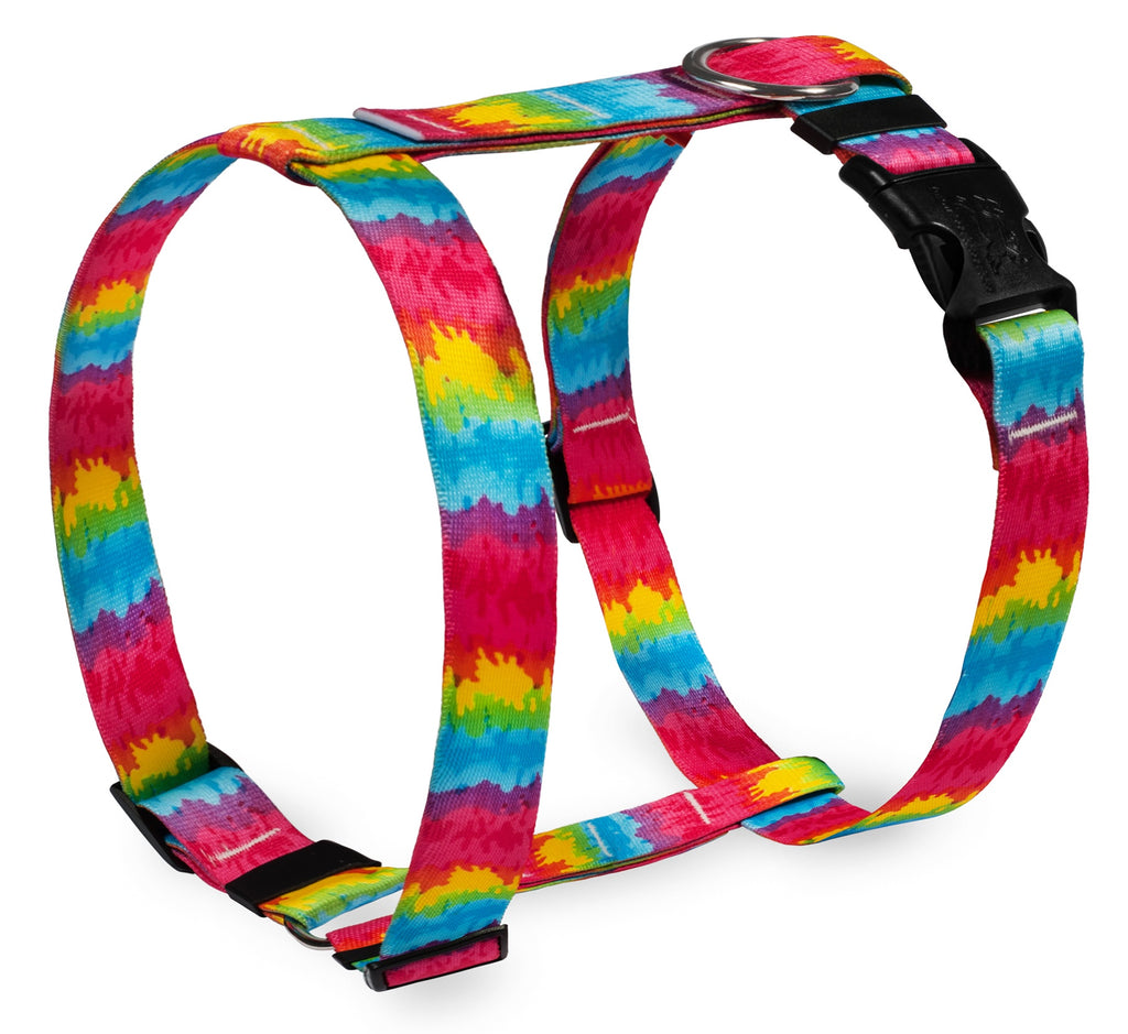 Tie Dye Print Roman Dog Harness