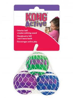 Kong Tennis Balls with bells for cats