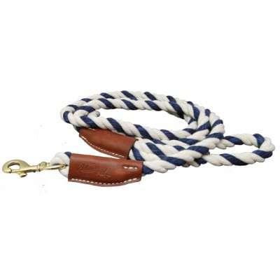 All Natural Leather & Cotton Rope Slip Leash